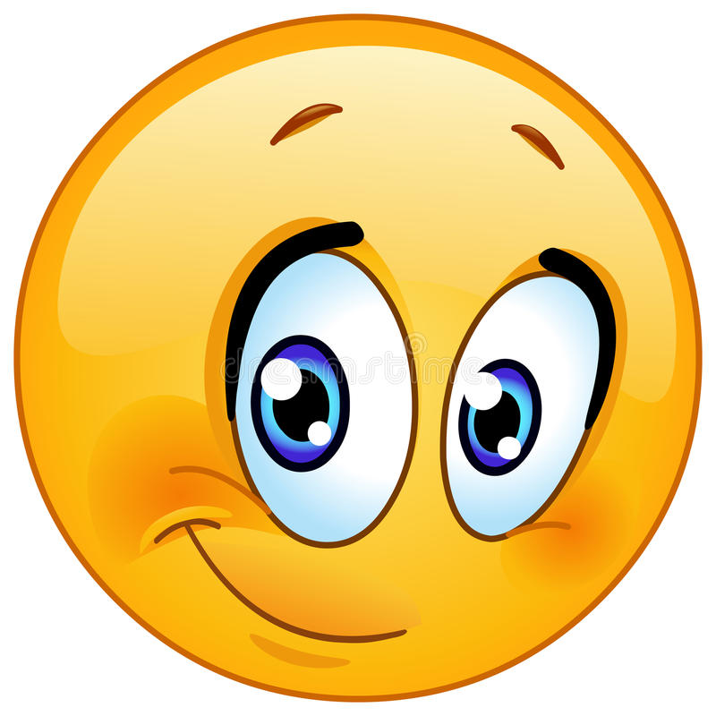 Meio emoticon do sorriso ilustração royalty free