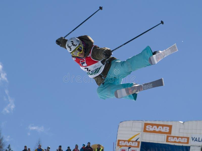 Meio esqui da tubulação fotografia de stock