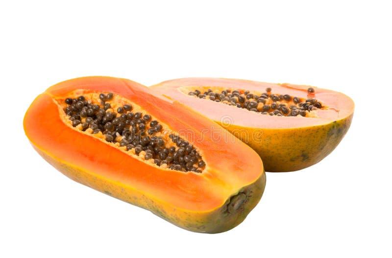 Meio fruto da papaia do corte mim imagem de stock royalty free