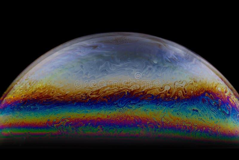 Meio fundo do sumário da bola da bolha de sabão Modelo do universo do espaço ou dos planetas cósmico fotos de stock