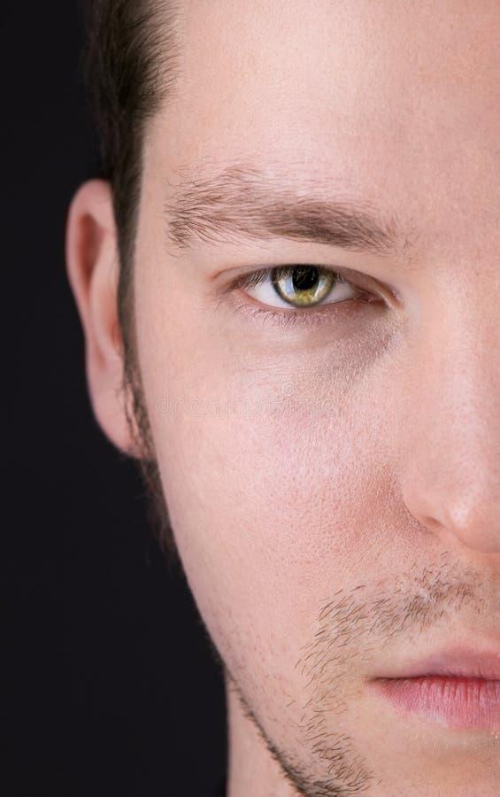 Meio retrato do homem da face fotografia de stock