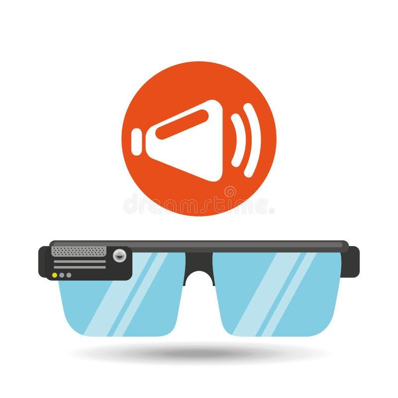 Meios da aplicação do orador da tecnologia dos vidros ilustração do vetor