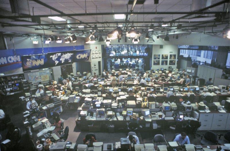 Meios do cable news network do CNN/sala de notícias, Atlanta, Geórgia fotos de stock royalty free