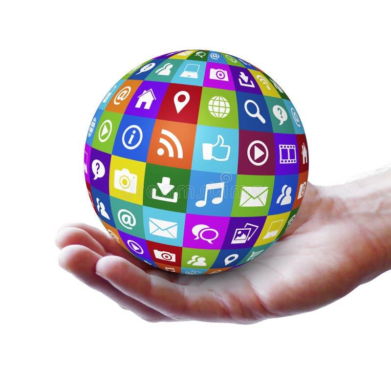 Meios do Social da Web e do Internet fotografia de stock royalty free