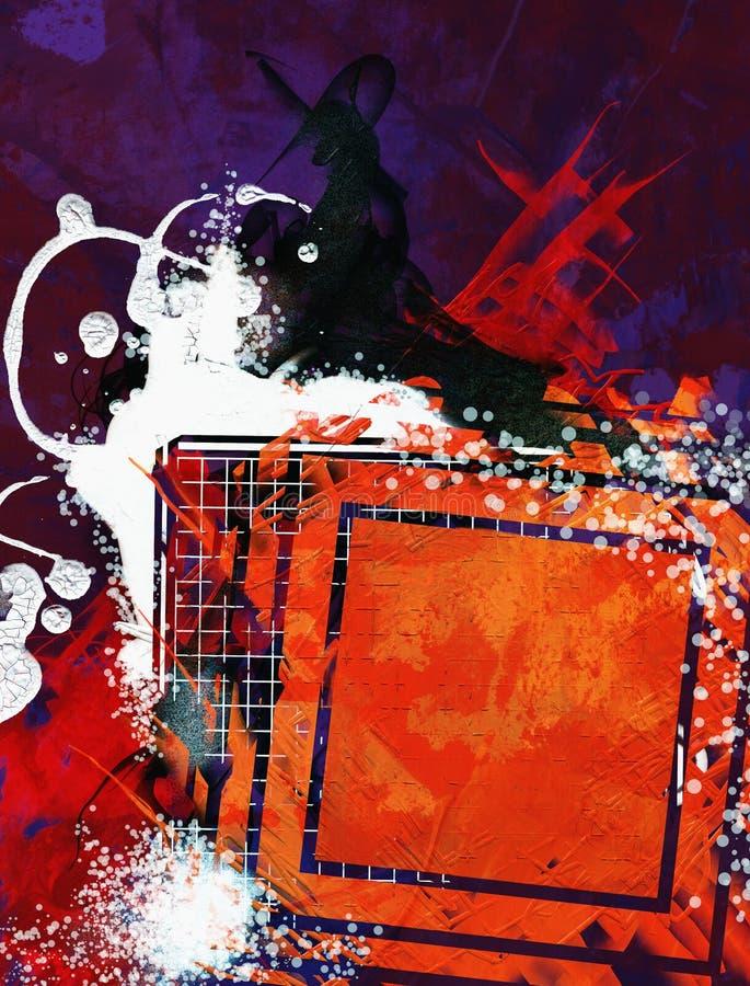 Meios mistos abstratos fundo ou textura ilustração stock
