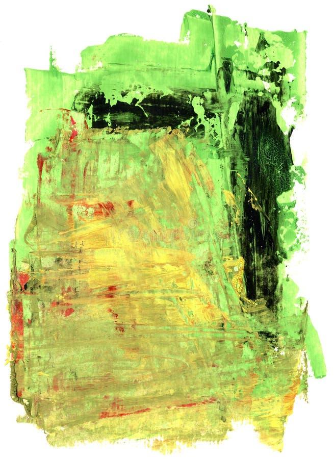 Meios mistos - sumário isolado da aquarela ilustração stock