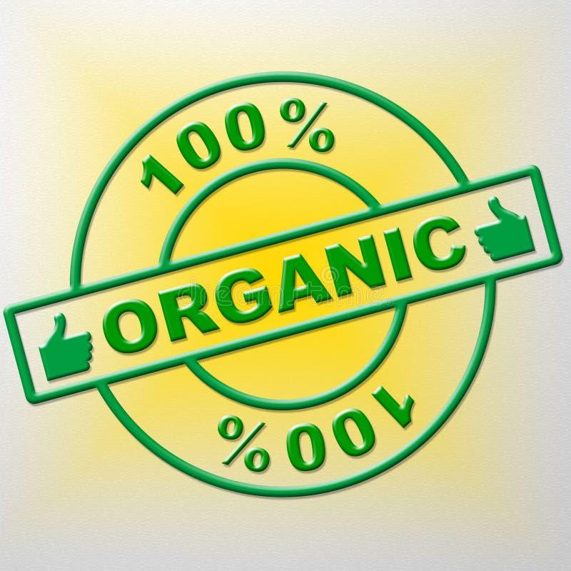 Meios orgânicos saudável de cem por cento e verde saõs ilustração stock