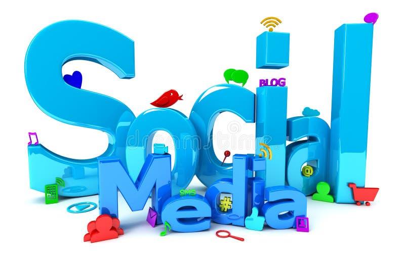 Meios sociais ilustração stock