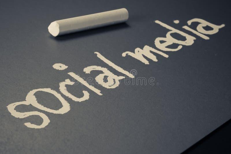 Meios sociais foto de stock