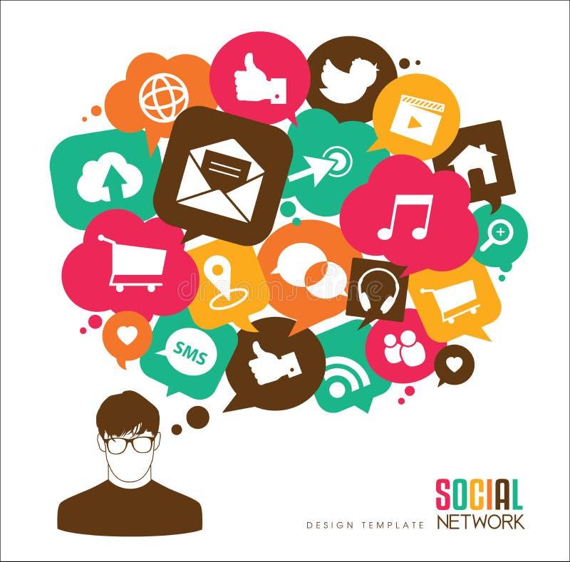 Meios sociais ilustração do vetor