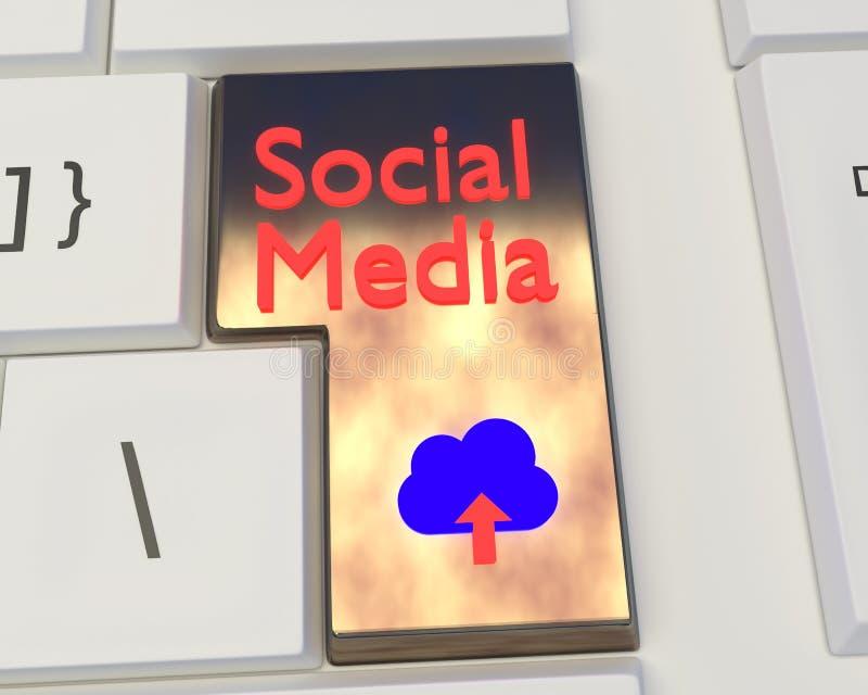 Meios sociais e trabalhos em rede sociais fotos de stock