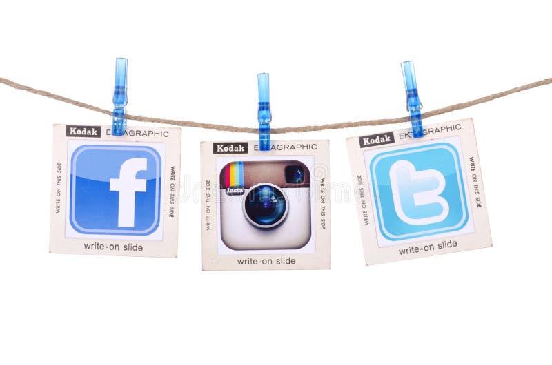 Meios sociais populares fotografia de stock