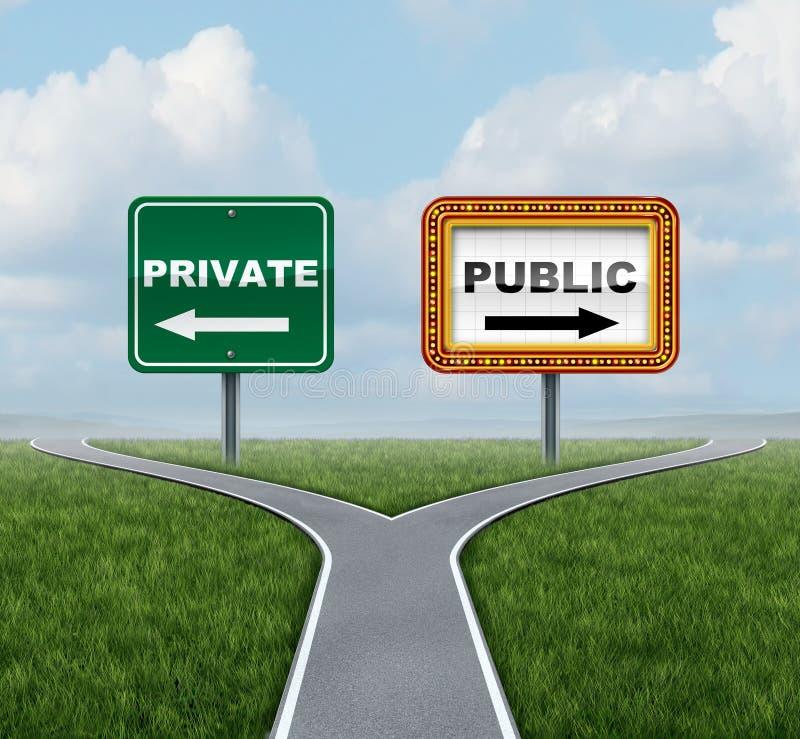 Meios sociais privados ou públicos ilustração royalty free