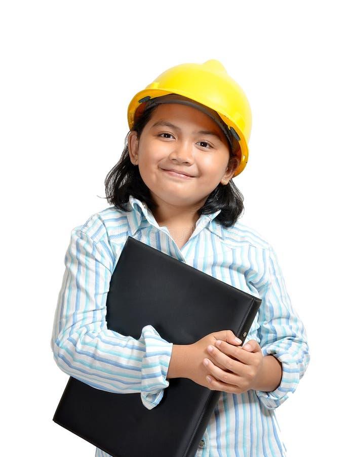 Meisje 01 van de ingenieur stock foto