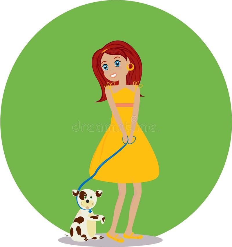 Download Meisje stock illustratie. Illustratie bestaande uit offerte - 10781622