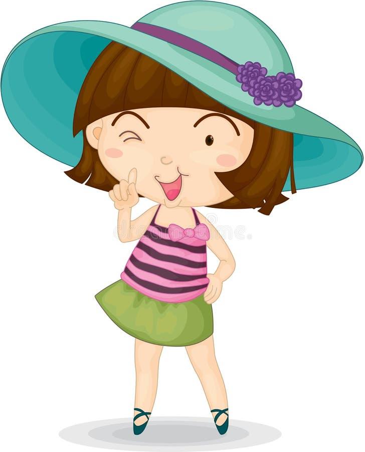 Meisje stock illustratie