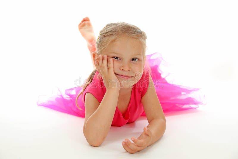Meisje in ballerinakleding royalty-vrije stock foto's