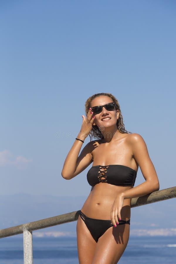 Meisje bij het Strand royalty-vrije stock fotografie