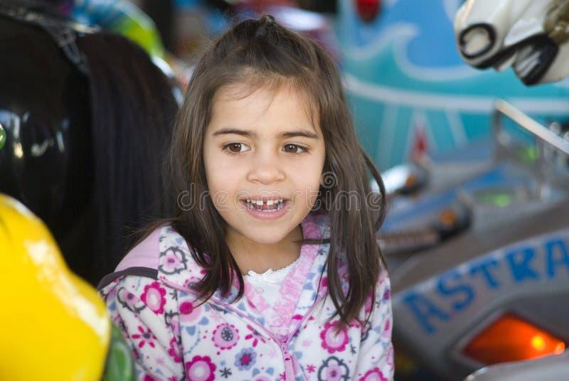 Meisje bij speelplaats royalty-vrije stock foto