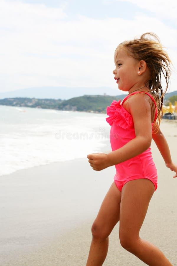 Meisje bij Strand royalty-vrije stock fotografie