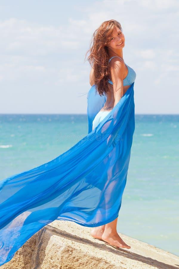 Meisje in bikini royalty-vrije stock foto's
