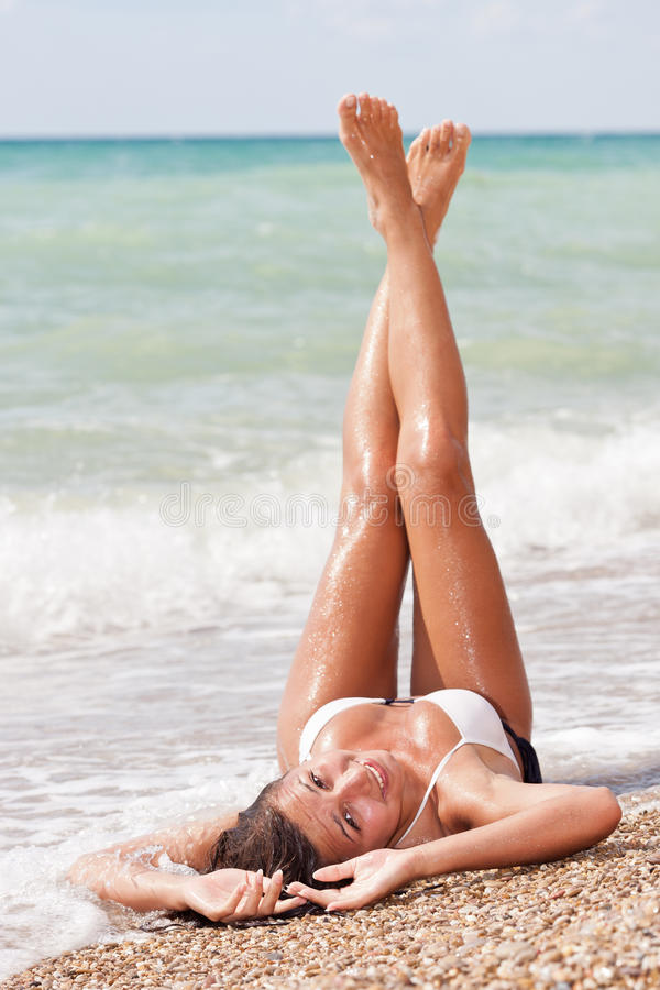 Meisje in bikini stock foto's