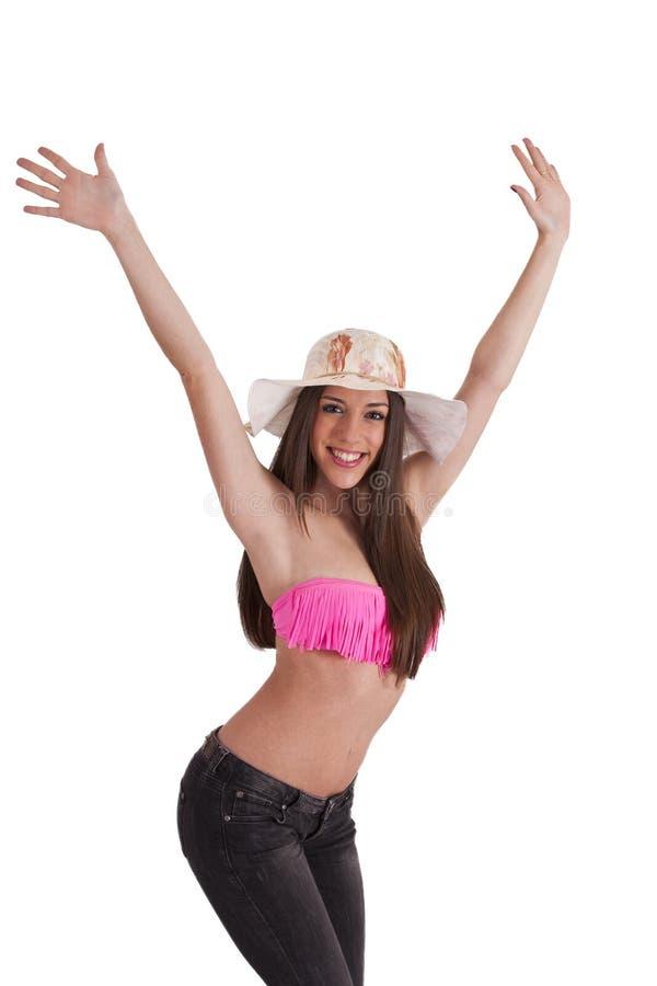 Download Meisje in Bikini stock foto. Afbeelding bestaande uit vreugde - 54087748