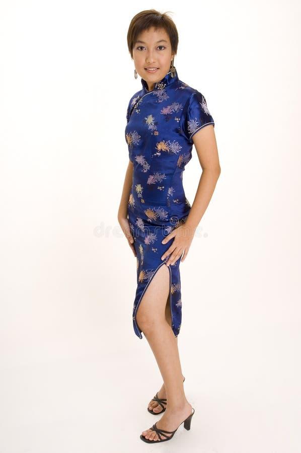 Meisje in Cheong SAM 3 royalty-vrije stock fotografie