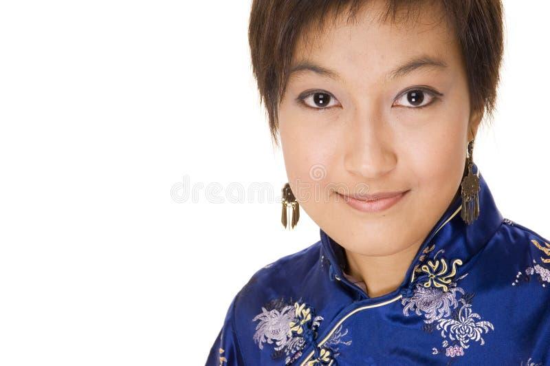 Meisje in Cheong SAM 4 royalty-vrije stock foto's