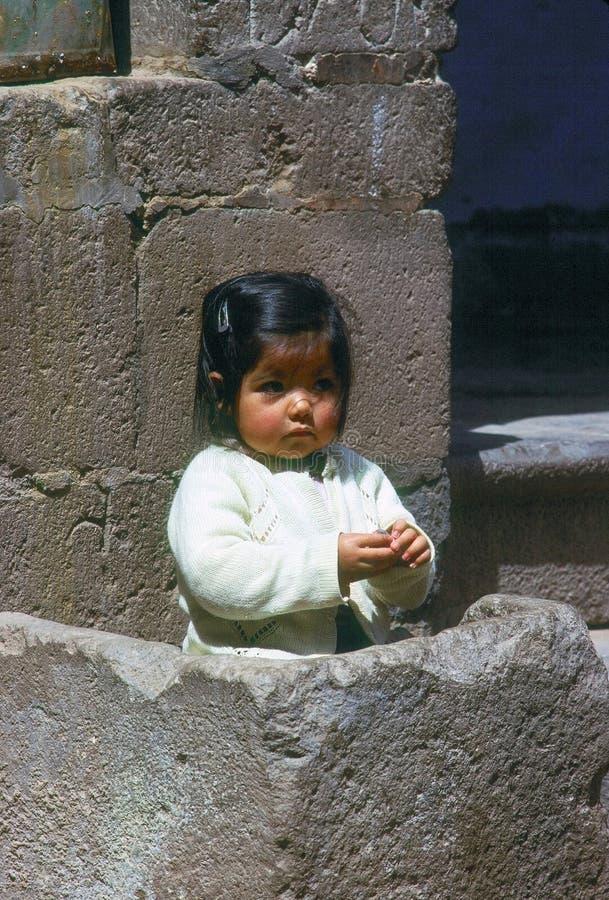 Meisje, Cuzco stock foto