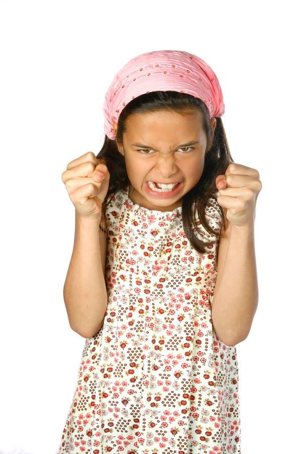 Meisje dat boos kijkt royalty-vrije stock fotografie