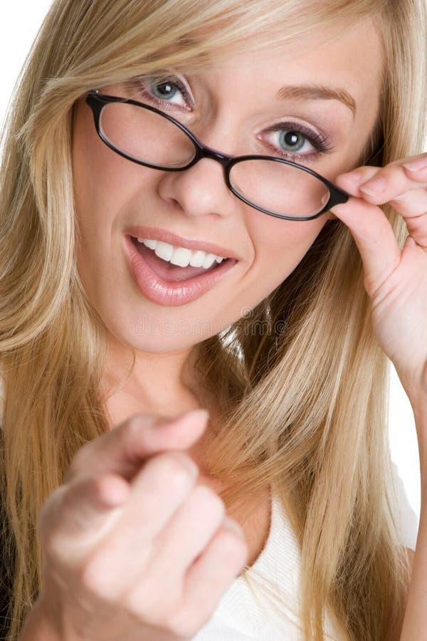 Meisje dat Glazen draagt stock fotografie