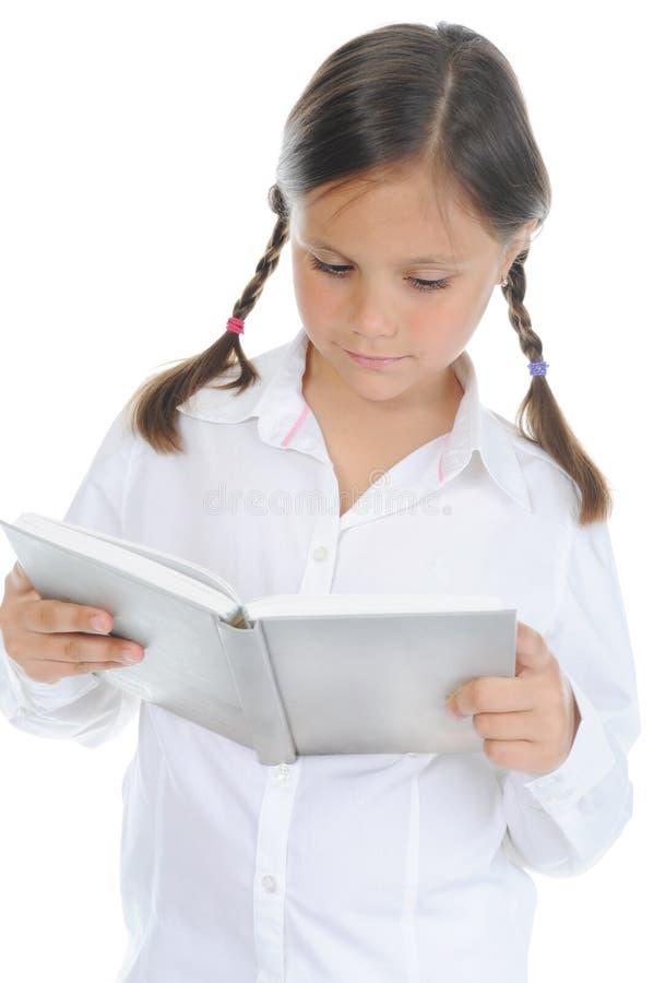 Meisje dat haar boek houdt royalty-vrije stock foto