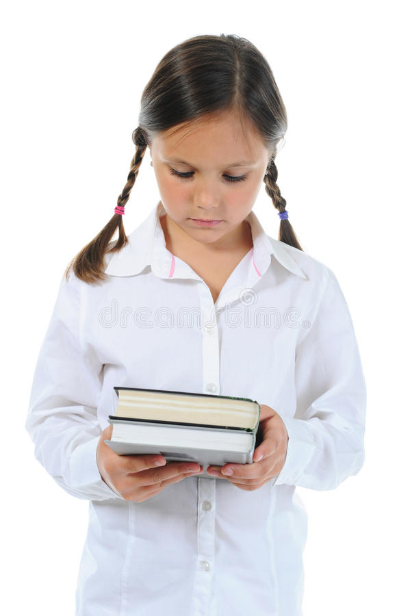 Meisje dat haar boek houdt royalty-vrije stock fotografie