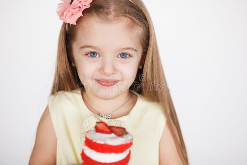 Meisje dat Haar Verjaardag viert royalty-vrije stock foto's