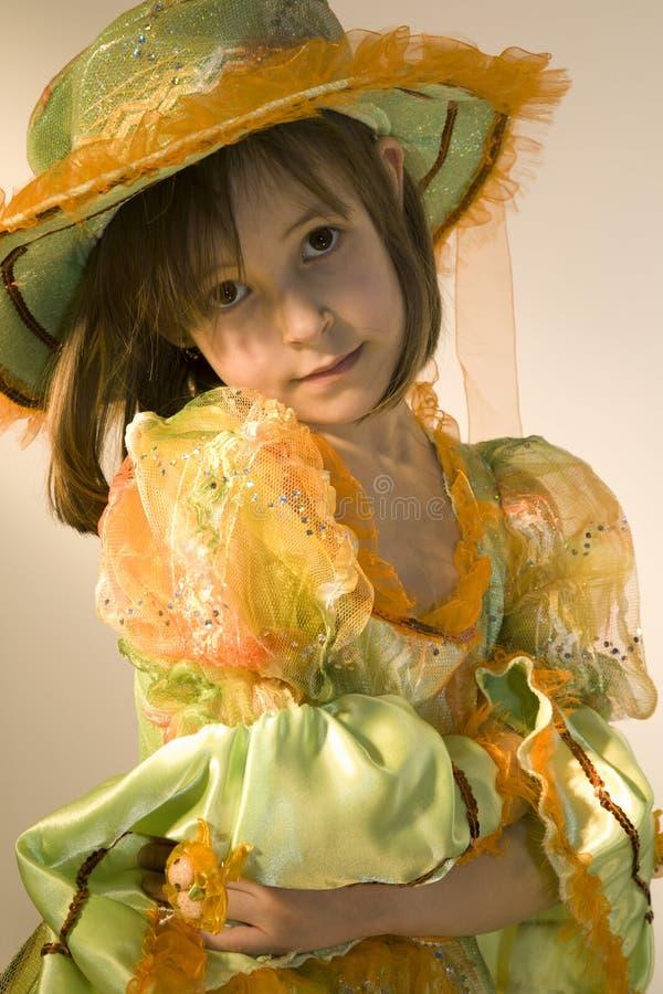 Meisje in de Carnaval kleren royalty-vrije stock afbeeldingen