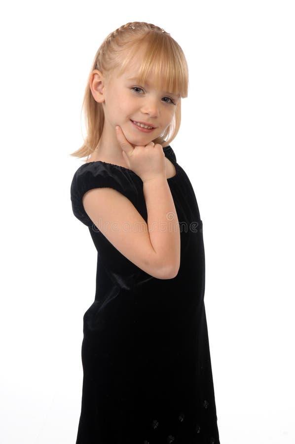 Meisje in de fotostudio royalty-vrije stock foto's