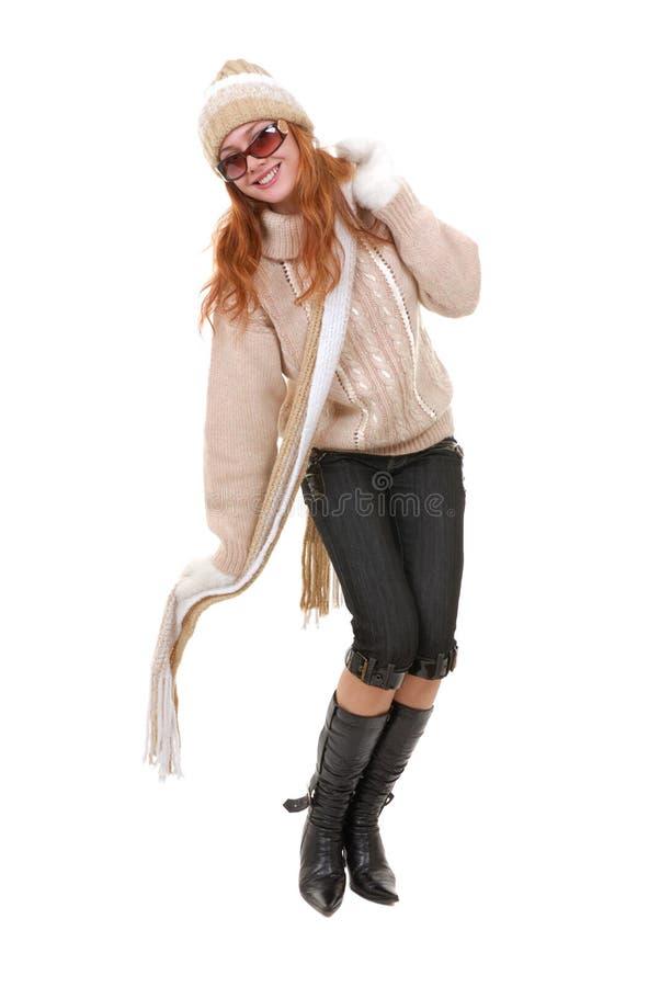 Meisje in de winterkleding stock fotografie