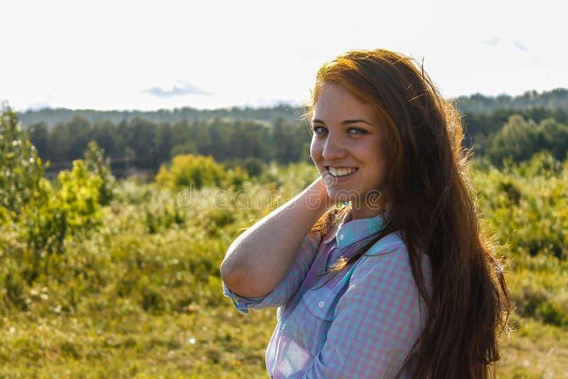 Meisje in de zomer royalty-vrije stock foto