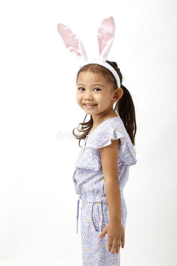 Meisje die als wat Pasen-dag handelen royalty-vrije stock foto