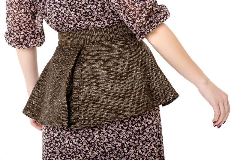 Meisje in een bruine kleding royalty-vrije stock foto
