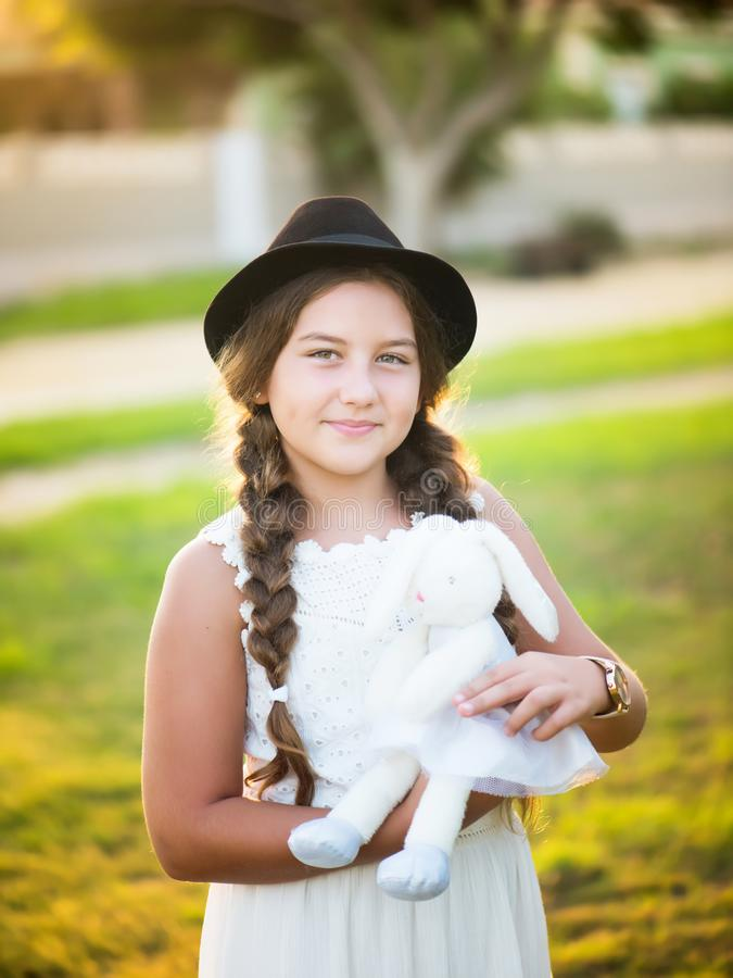 Meisje in een hoed royalty-vrije stock foto's