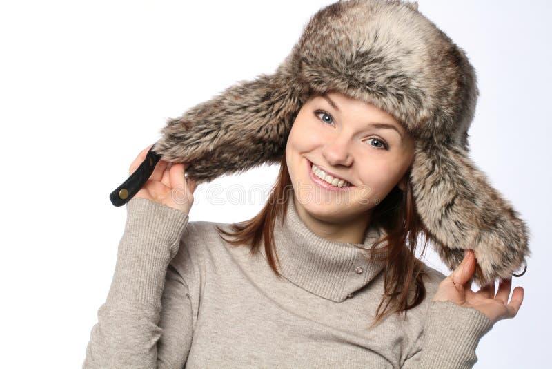 Meisje in een hoed stock afbeelding