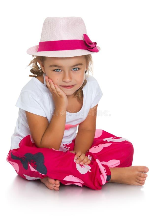 Meisje in een hoed stock foto's