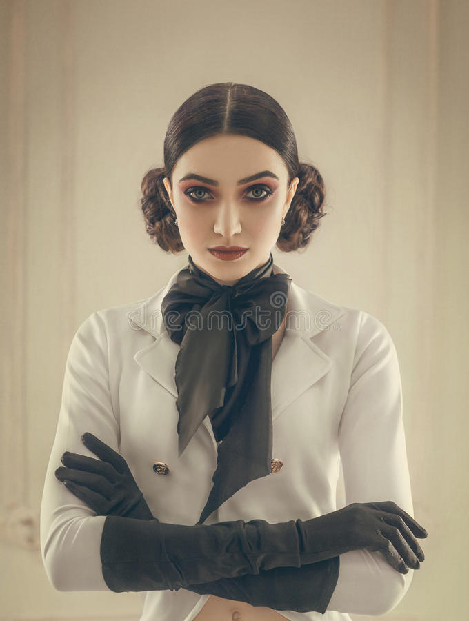 Meisje in een kostuumruiter royalty-vrije stock foto