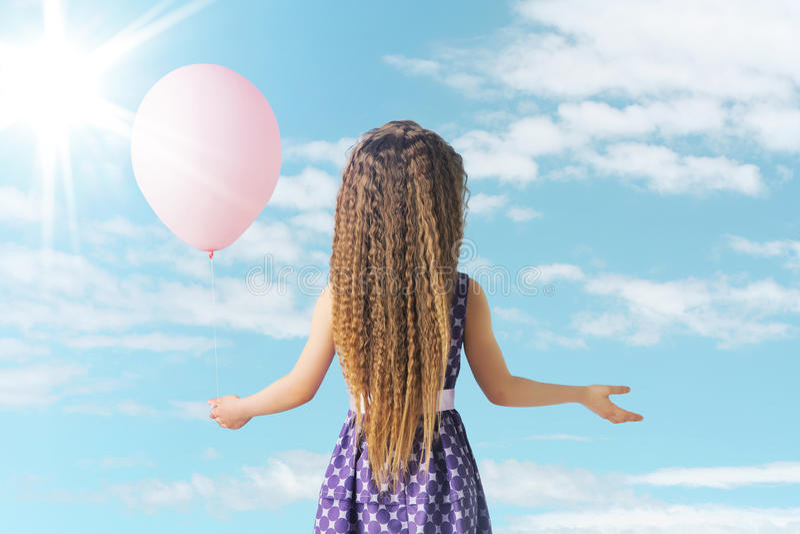 Meisje en de ballon royalty-vrije stock foto's