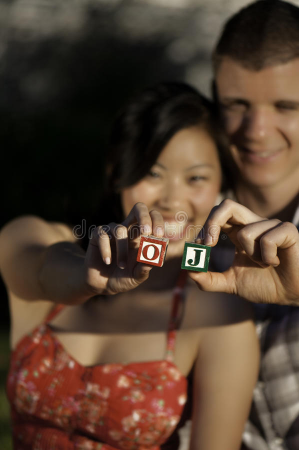 Meisje en een Jongen stock fotografie