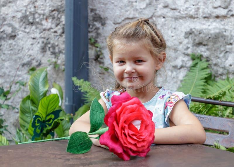 Meisje en emotie royalty-vrije stock foto's