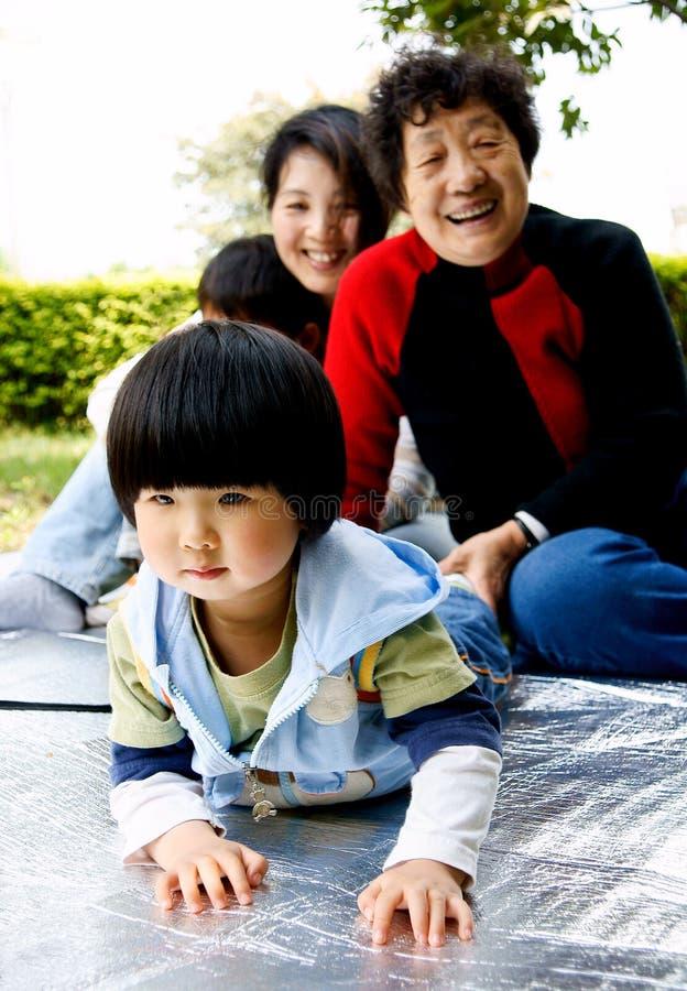 Meisje en families royalty-vrije stock foto's