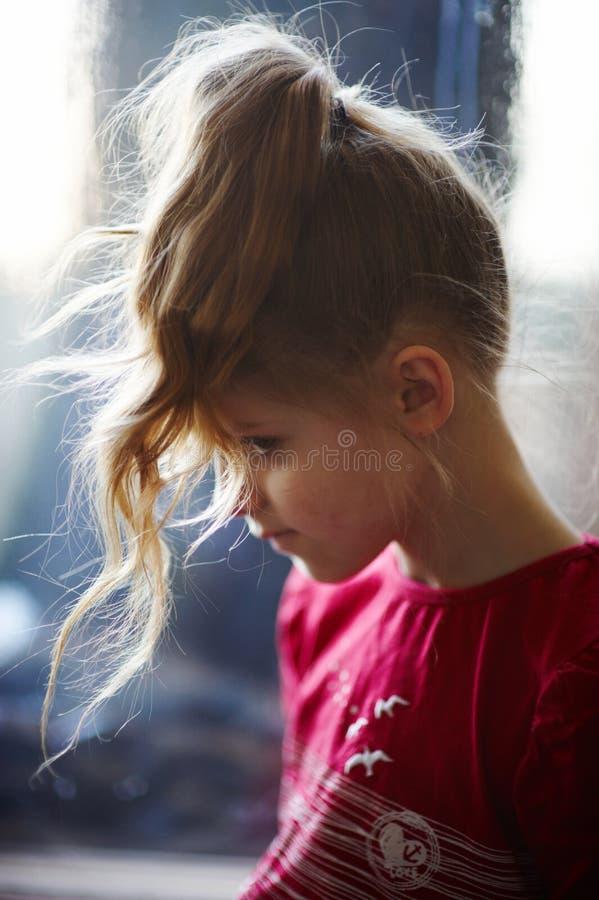 Meisje en ijsvenster royalty-vrije stock afbeelding